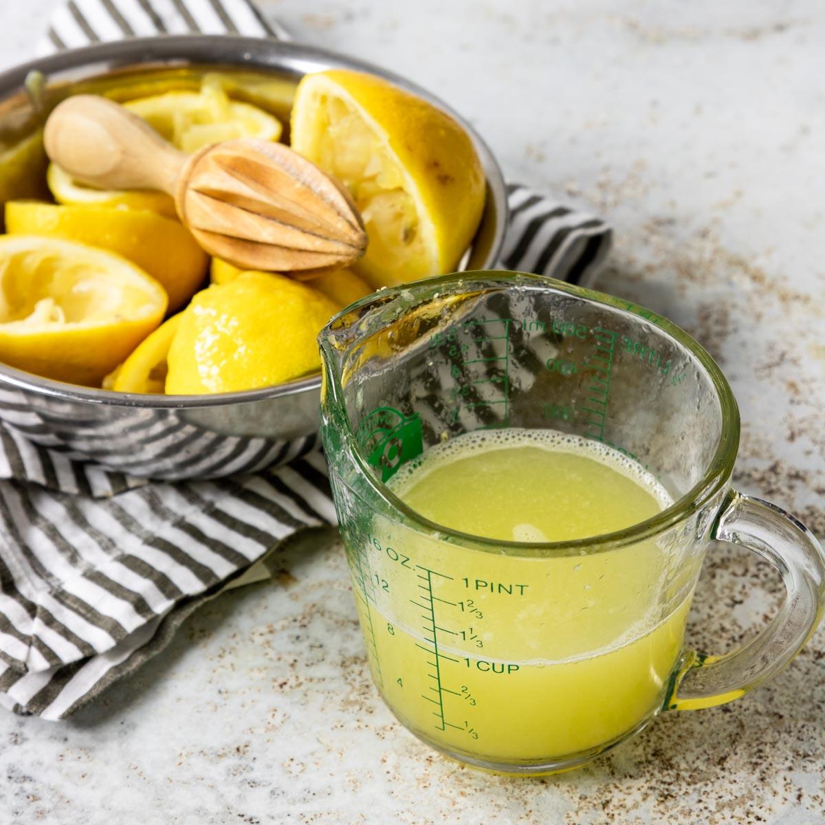 1 cup fresh squeezed lemon juice