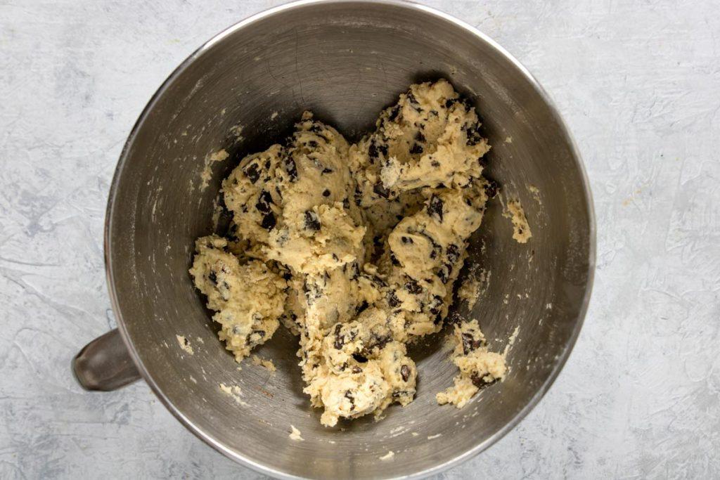 scone dough in a mixer bowl