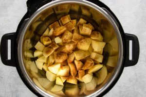 ingredients for applesauce in the instant pot