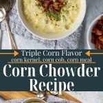corn chowder pin image with text