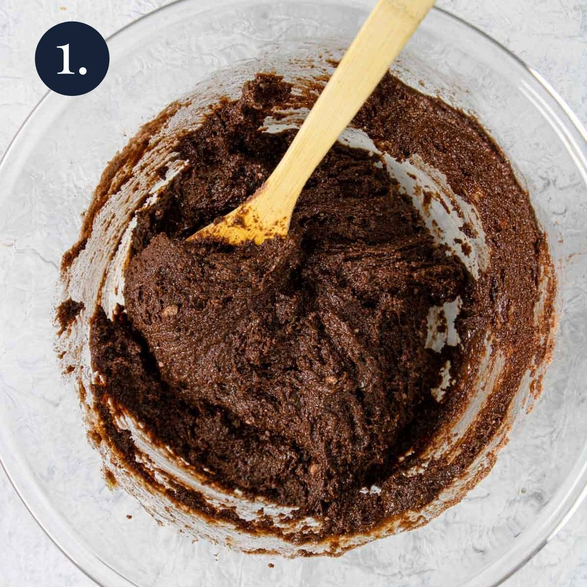 cake mix brownie batter in a bowl