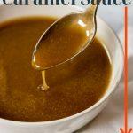 brown Sugar caramel sauce pin image with text