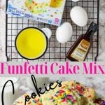 funfetti cookies with pinterest text