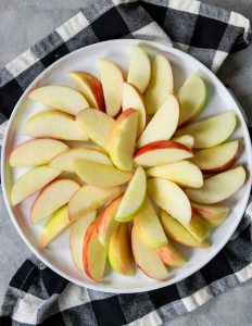 apples layered in a pinwheel pattern
