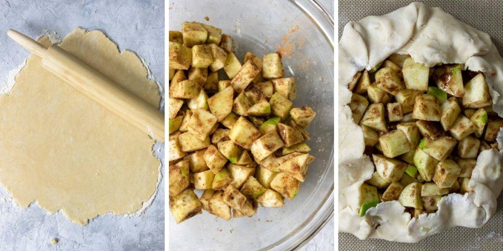 steps for making apple crostata