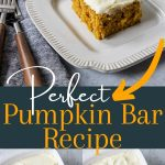 pumpkin bar recipe pin image with text