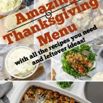 thanksgiving recipe collage with pinterest text overlay