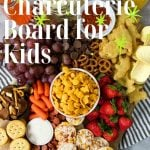 charcuterie board for kids with pinterest text