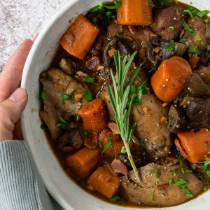 Coq Au Vin in a bowl