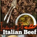 Instant Po Italian Beef images with pinterest text