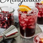 pomegranate margarita recipe pin image with text
