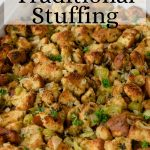 stuffing recipe image with pinterest text