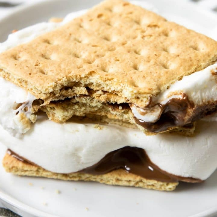 two s'mores in a pile
