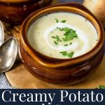 pin image with text for potato leek soup