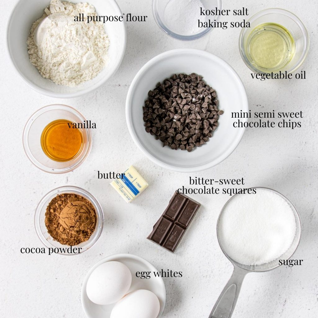 a picture list of ingredients for brownie brittle