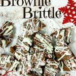 pinterest image with text for peppermint brownie brittle