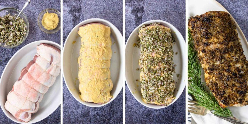 4 steps for making rosemary pork loin