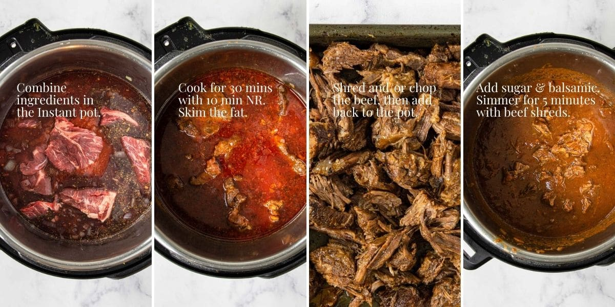 4 simple steps for making beef ragu in the instant pot