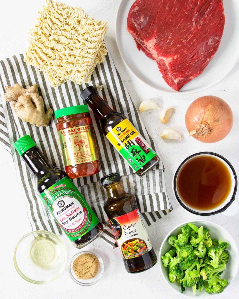 ingredients for instant pot beef ramen