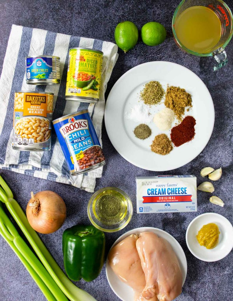 ingredients for instant pot chicken chili