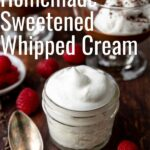 Pinterest image with text for whipped cream