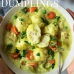 Chicken and Dumplings pinterest image with text