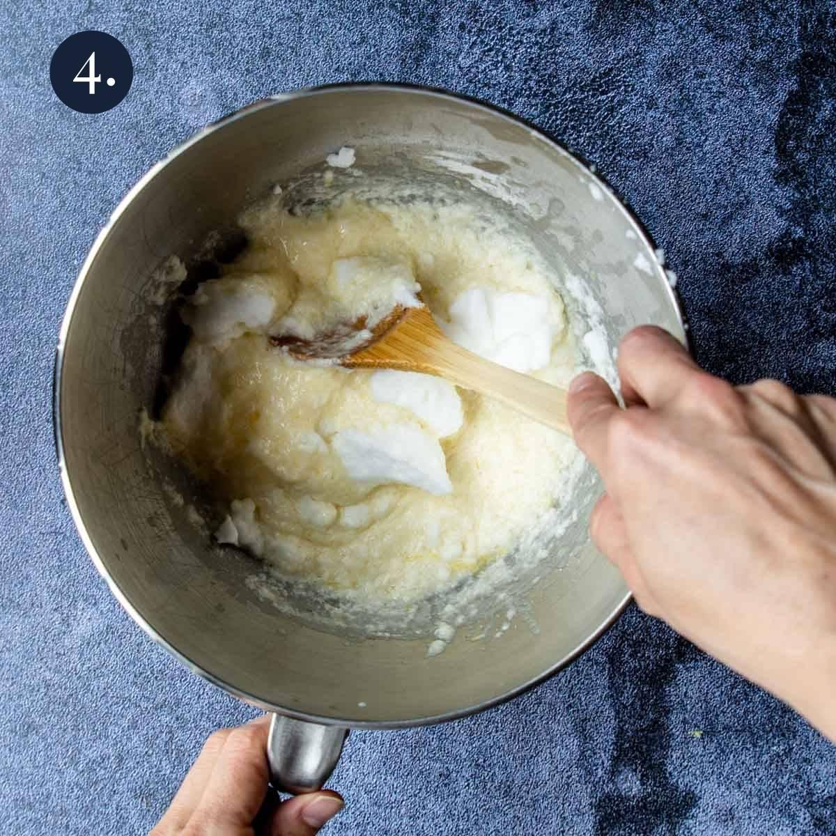 folding egg whites batter