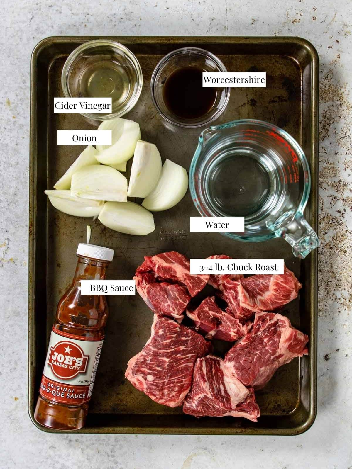 ingredients to make BBQ Beef in the Instant Pot